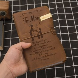 $enCountryForm.capitalKeyWord NZ - Engraved Genuine Leather Journal To Wife, Daughter,Son,Mom And Dad Notebook Diary Custom Message Quotes Gift Anniversary Family