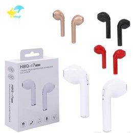 0c80e149b88 Original HBQ i7 TWS Twins True Wireless Earbuds Earphone Mini Bluetooth  V4.2 DER Stereo Headset Sports Headphone For iPhone 8 X Galaxy S8