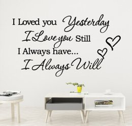 $enCountryForm.capitalKeyWord Australia - I Love You Yesterday Quote Wall Stickers Lettering Words Wall Decal Art Characters Vinyl Murals Home Living Room Decoration