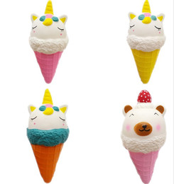 $enCountryForm.capitalKeyWord NZ - 4 Style Squishy Ice Cream Cone Jumbo Slow Rising Soft Squeeze Toy Reduced Pressure TOYS YH1709