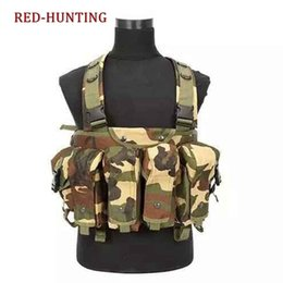 Discount high quality tactical gear High Quality Tactical Vest Ammo Chest Rig  74 Magazine Carrier Combat Tactical Camouflage Vest Gear