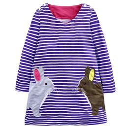 $enCountryForm.capitalKeyWord Australia - Girl Dresses Princess Costume Rabbit Stripe Baby Girl Dress Summer Costume For Kids Clothes Children Girl Birthday Dress