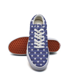 American Canvas Print Australia - Men's canvas sneakers Happy 4th of July American flag patriotic10 tennis sneakers Lightweight trendy Lace-up Balls Shoe Breathabl casual sn