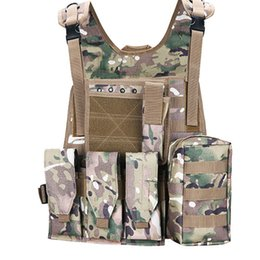 green army tactical vest men NZ - USMC Tactical Vest Molle Army Combat Assault Vest Men Outdoor CS Hunting Hiking Camping Camouflage