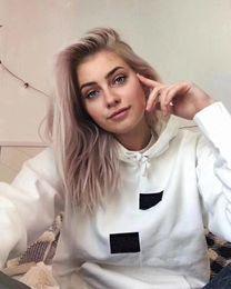 Ladies sweaters neck designs online shopping - Fashion designer women s sweater winter asymmetric design casual loose long sleeve plus velvet ladies hoodie couple models sweater
