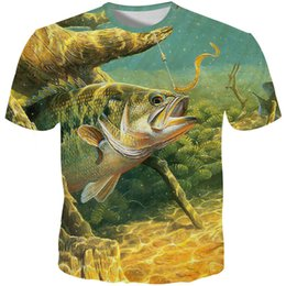 Unique Tee Shirt Designs Australia - YOUTHUP 3D Full Printed Men's t shirts Summer Short Sleeve T shirts Fish Printed Male 3D T-shirts Unique Design Top Tees