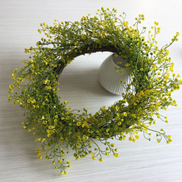 China Spring model simulation green plant garland plastic wreath living room garden window decoration home garland decorative fake flower supplier spring wreaths suppliers