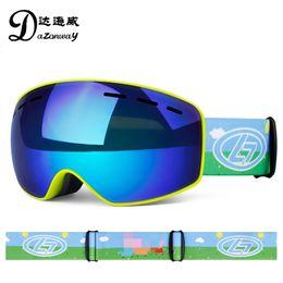 Girls Ski Goggles Australia - Cartoon Pig Style Kids Ski Goggles Small Size for Children Double UV400 anti-fog Skiing Eyewear Girls Boy's Snowboarding goggles