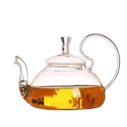 $enCountryForm.capitalKeyWord UK - New Coffe Pot Heat Resistant Teapot Glass Transparent Tea Pot Water Kettle with Infuser Tea Leaf Herbal Coffee Kitchen Accessories