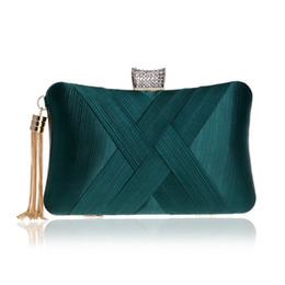 $enCountryForm.capitalKeyWord Australia - Elegant Ladies Evening Clutch Bag with Chain Cross Knit Weave Shoulder Bag Women'S Handbags Purse Wallets for Wedding