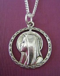 $enCountryForm.capitalKeyWord Australia - Christian Virgin Mary Necklace Pendants Goddess Vintage Silver Statement Choker Chain Necklaces For Womens Jewelry Accessories Gift