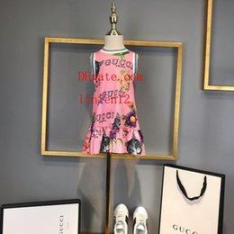$enCountryForm.capitalKeyWord Canada - 2019 summer baby girls dress cat Printed short sleeve Chiffon dress Children Clothing Party Girl Dresses kids clothes girls EF-8