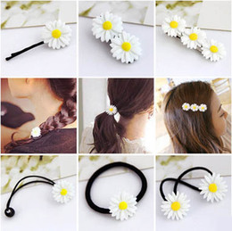 $enCountryForm.capitalKeyWord Australia - new hair accessories wholesale double hair circle circle rope jewelrySummer small fresh daisy flower hairpin Korean version of the