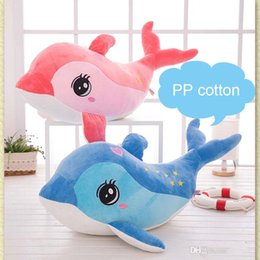 Dolphin Toys Stuffing NZ - Lovely 40CM Cute Dolphin Charms stuffed animals Kids Plush Toys Home Party Pendant squishy christmas Gift Decorations