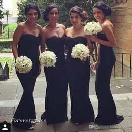 elegant chiffon bridesmaid dresses Canada - 2019 Elegant Black Mermaid Bridesmaid Dress Sleeveless Backless Chiffon Long Formal Maid of Honor Gown Plus Size Custom Made