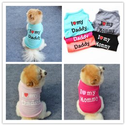 Wholesale Pet dog clothing vest coat summer breathable pet cats dog clothes costume for teddy bichon dog apparel XS S M L XL