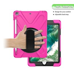 $enCountryForm.capitalKeyWord Australia - NEW For iPad 9.7 2017 2018 Shockproof Kids Protector Case For iPad2 3 4 Heavy Duty Silicone Hard Cover kickstand design Hand Pen Sleeve