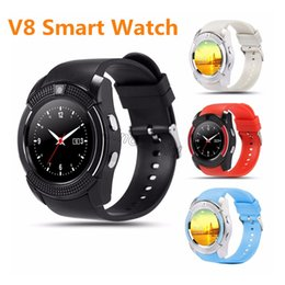 Italian Smart Watch NZ - V8 SmartWatch Bluetooth Smartwatch Touch Screen Wrist Watch with Camera SIM Card Slot, Waterproof Smart Watch For Iphone Android Smartphones