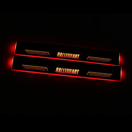 mitsubishi pedals NZ - Moving LED Welcome Pedal Car Scuff Plate Pedal Door Sill Pathway Light For Mitsubishi Lancer 10 Ralliart
