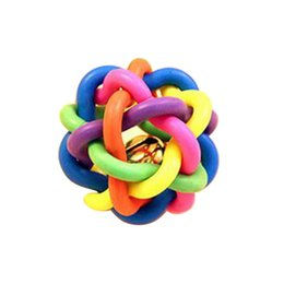 $enCountryForm.capitalKeyWord UK - Cheap Dog Toys Colorful TRP Ball Cats Dog Toy With Bell Home Palying Squeak Toys For Dogs Puppy Kitten Bite Resistant Pet Accessories