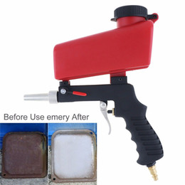 smallest gun NZ - Portable Gravity Sandblasting Gun Pneumatic Sandblasting Set Small Sand Blasting Machine Adjustable Pneumatic gun