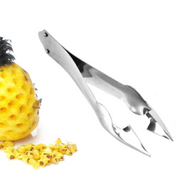 slicer easy cutter Australia - Practical Easy Fruit Peeler Pineapple Corer Slicer Cutter Stainless Steel Kitchen Knife Gadgets Pineapple Slicer Clips