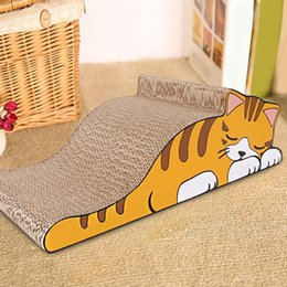 $enCountryForm.capitalKeyWord Australia - Claw Care Interactive Training Cat Pet Toy Lazy Cat Design Claw Board Kitten Corrugated Scratch Board Pad Scratcher Bed Mat