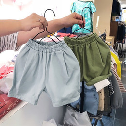 Flower bloomers online shopping - Summer New Quality INS Solid Girls Shorts children PP Pants Cotton Casual PP Trousers Blank Diaper Cover Bloomer For Kids Boys