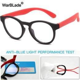 kids blocks wholesale NZ - WarBlade Blue Light Kids Glasses Round Silicone Children Optical Frame Boys Girls Computer Transparent Blocking Eyeglasses UV400