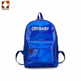 f4bf862078bc Luxury for women 2018 Fashion school Laser reflective backpack Simple style  backpack Waterproof Multi-purpose travelling bag
