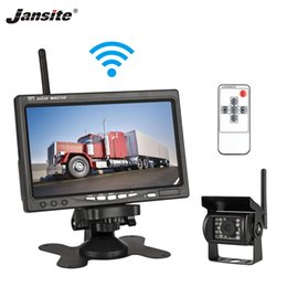 "support monitor camera NZ - Jansite 7"" Wireless Car monitor TFT LCD Car Rear View Monitor Parking Rearview System for Backup Reverse Cameras Support Auto TV"