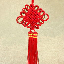 $enCountryForm.capitalKeyWord Australia - 10Pcs lot Red Chinese knot Lucky Pendant Festive Home Decoration Craft Gift for Car Ornaments Hanging Accessories Wholesale free shipping