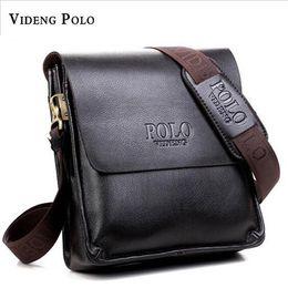 Bag Polo Pu Australia - 2017 Fashion Brand Videng Polo Men Bags High Quality PU Leather Designer Men Messenger Bags Luxury Cross Body M001