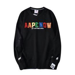 $enCountryForm.capitalKeyWord Australia - Men Jacket APE Coat Sunscreen Casual printing Mens Clothing Jackets Tops with Letter Printed Lapel Hooded Windbreaker