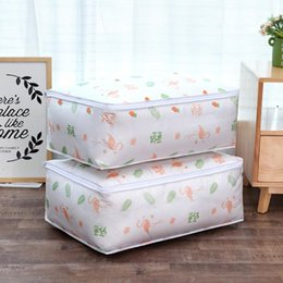 $enCountryForm.capitalKeyWord Australia - Flamingo Shape Quilt Storage Bag Home Clothes Quilt Pillow Blanket Storage Bag Travel Lage Organizer Dampproof Sorting Bag