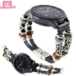 $enCountryForm.capitalKeyWord Australia - Leather Band For Samsung Galaxy Watch 46mm Strap Gear S3 Frontier Band 22mm Genuine Leather Bracelet Huawei Watch Gt Strap 46 Mm T190620