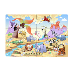 $enCountryForm.capitalKeyWord Australia - 1pc Animal Puzzle Cute Educational Colorful Magnet Animal Puzzle Wood for Children Kids Toddler