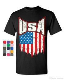 022204b39e Usa Distressed Flag T-Shirt 4Th Of July Stars & Stripes Patriot Mens Tee  Shirt T-Shirt O-Neck S-XXXL Cotton Short Sleeve Man Tees Shirts Sum