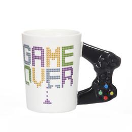 $enCountryForm.capitalKeyWord Australia - Game Over Coffee Mug 3D Game Controller Handle Mug Ceramic Cup Milk Tea Mugs Game Boy Birthday Gift