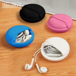 $enCountryForm.capitalKeyWord Australia - Round Earphone Wire Organizer Box Data Line Cables Storage Case Plastic Container Jewelry Headphone Protect with Rotating