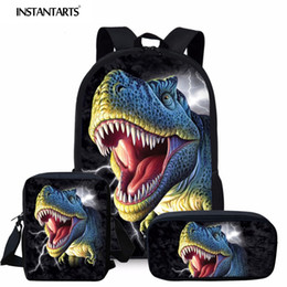 $enCountryForm.capitalKeyWord Australia - Coloranimal Dinosaur 3D Boy Backpack 3pcs Set Mochilas Schoolbag for Children Student Custom Casual Bag Large Bagpack Men Backs