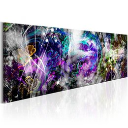 digital printing flowers Canada - Colorful Abstract Watercolor Flower Canvas Print Wall Art Modern Home Decoration Choose Color & Size(No Frame)