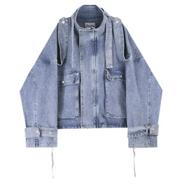 Wholesale denim winter jackets for men for sale – winter Mens Denim Jackets High Street Fashion Oversize Men Vitange Solid Color Outerwear Coats Jackets Clothing For Autumn Winter