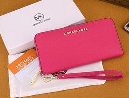 Multi Color Hand Bag Australia - Wholesale multi-color ladies long mobile phone bag wallet wrist classic zipper hand purse free post