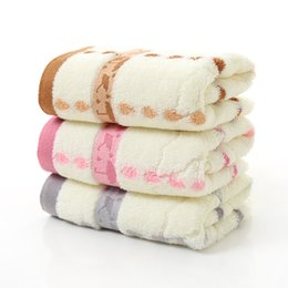 Yellow Towels Sale NZ - Cotton towel bamboo fiber raindrop Small umbrella soft gift towel Thicken Water absorption Face towel Factory direct sales