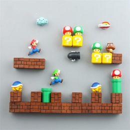 $enCountryForm.capitalKeyWord Australia - Super Mario DIY Magnet Fridge Magnet Childhood Cartoon Game Souvenir Combination Refrigerator Magnetic Sticker 50pcs lot