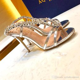 $enCountryForm.capitalKeyWord Australia - 2019 New Aquazzura High Heel Shoes Fashion Perfect Quality Sexy Crystal Sandals European Size 35-40