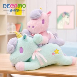 $enCountryForm.capitalKeyWord UK - Unicorn Green Pink Animal Collectible Plush Toys Pillow Car Decoration Cute Valentine's Day Gifts Hot Toys Dolls Free Shipping Free Shipping
