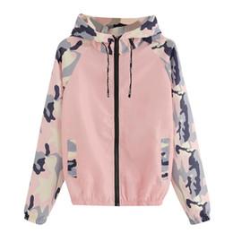 $enCountryForm.capitalKeyWord Australia - JAYCOISN Women's camouflage stitching color zipper hooded jacket Women Long Sleeve Patchwork Hooded Pockets Casual Sport Coat PK