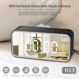 $enCountryForm.capitalKeyWord Australia - Wireless Wifi network IP camera Mirror clock camera 4K Ultra-HD 1080P IR night vision Clock video recorder Home security camera Baby monitor